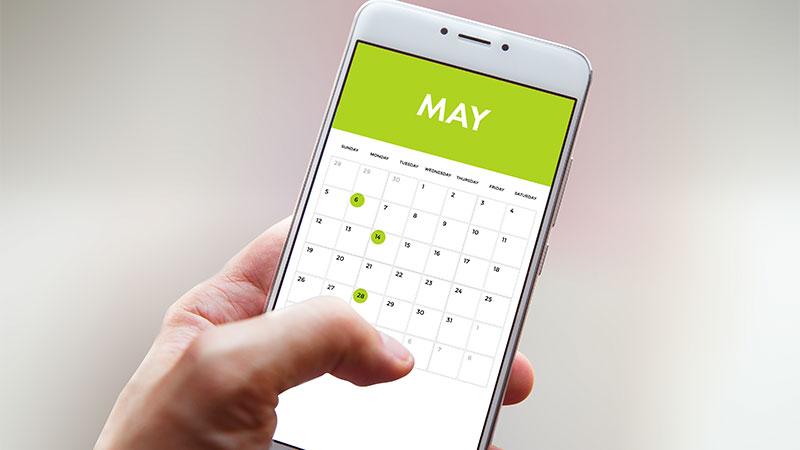 medi spa may calendar