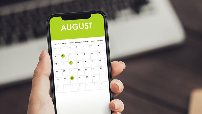 medi spa august calendar