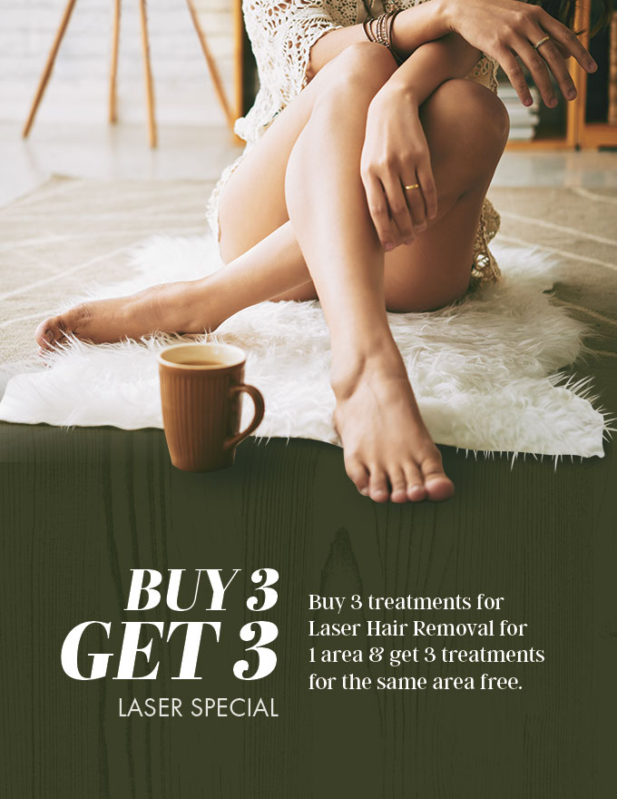 laser hair removal - buy 3 get 3