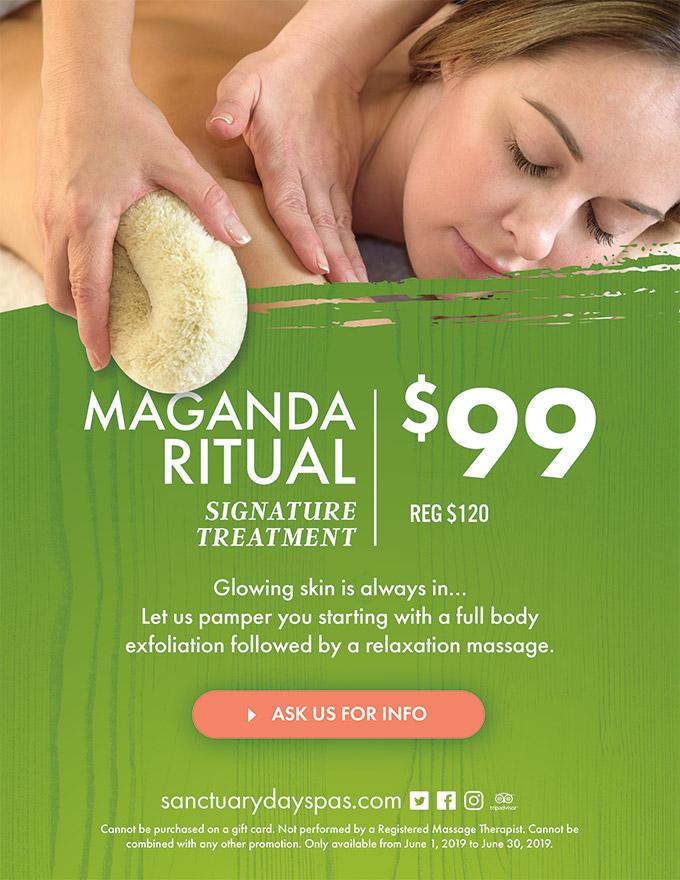 Maganda Ritual Massage - Sanctuary Day Spas