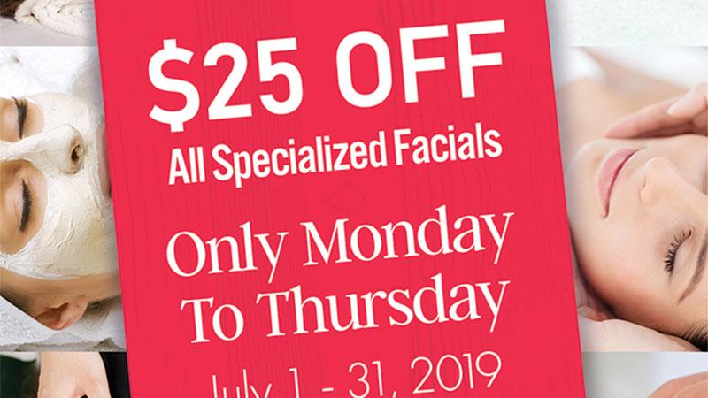 specialized facials - sanctuary day spas