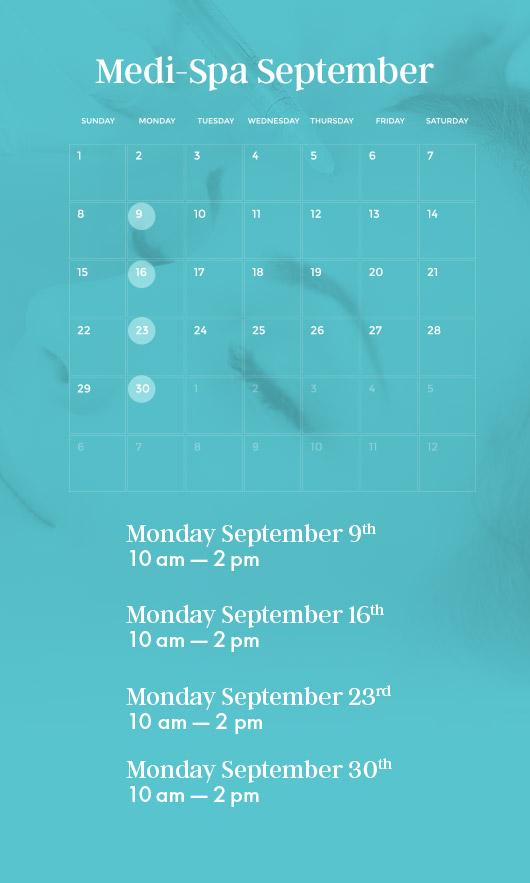 medi-spa september - sanctuary