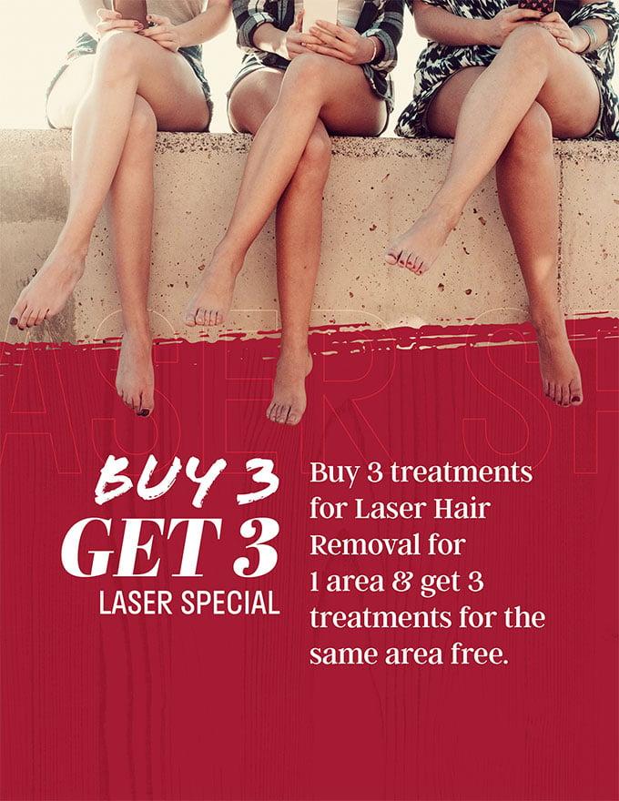 buy 3 get 3 - laser special