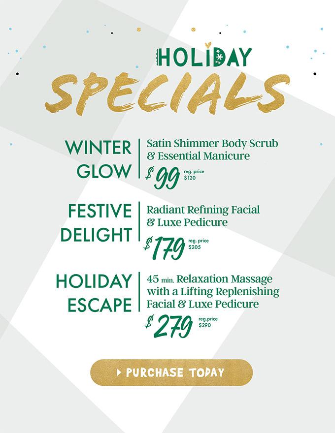 holiday specials - sanctuary