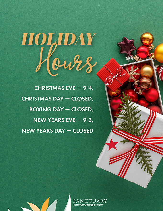 spa holiday hours 2019