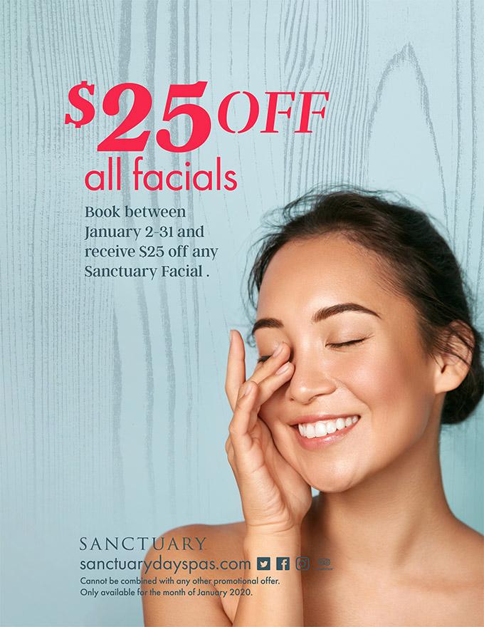 $25 off Facials - January
