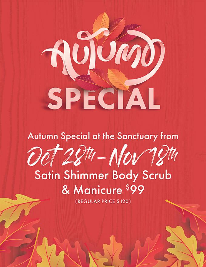 autumn special - sanctuary day spas